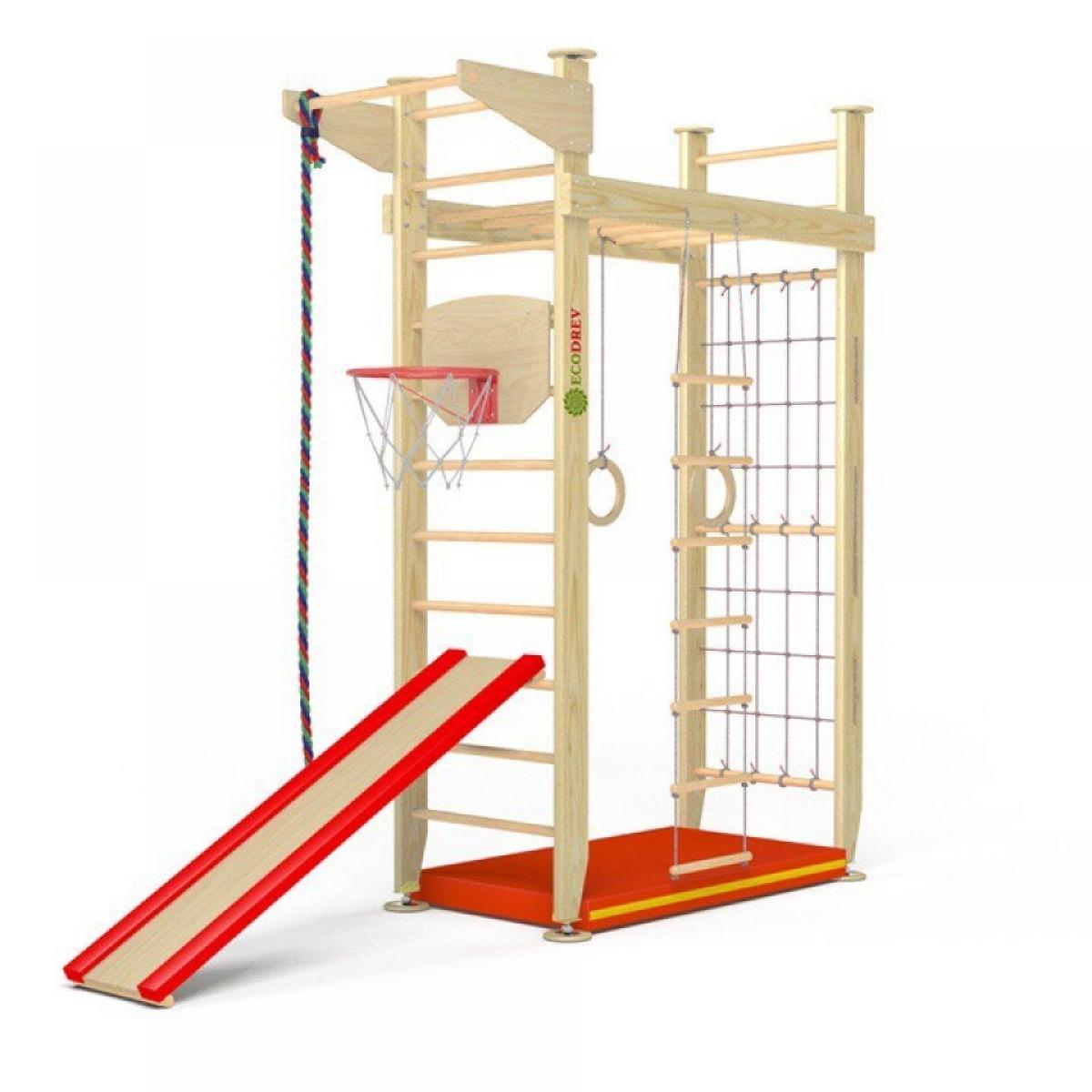Детский спортивный комплекс Крепыш 02 враспор (лак, полная комплектация)