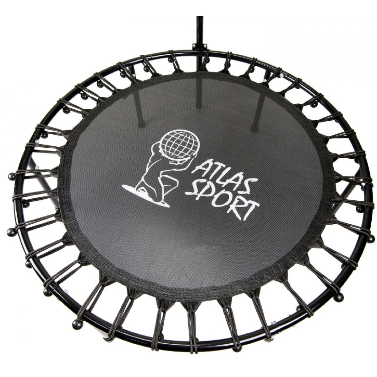 Батут круглый Atlas Sport 112 см на резинках с Т-ручкой