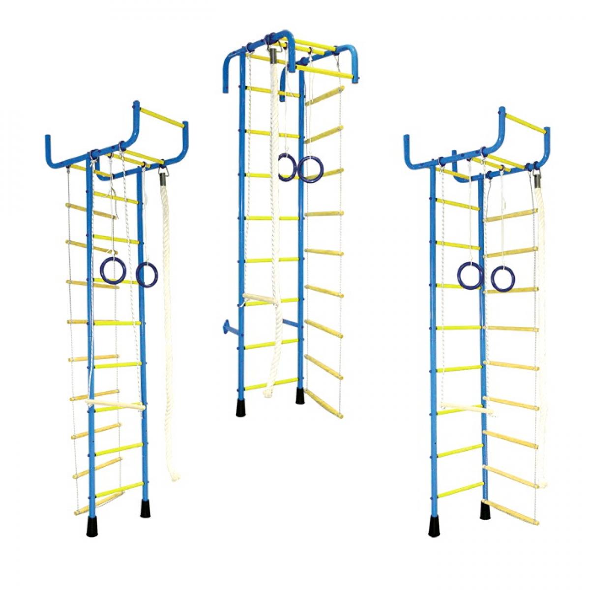 Шведская стенка (детский спортивный комплекс) 3-5 ПВХ Трансформер Фолетово-желтый