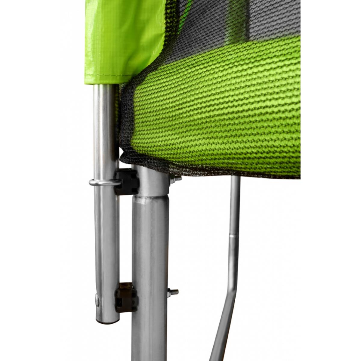 Батут с сеткой и лестницей Smile STG-252 8ft зеленый (252 см.)