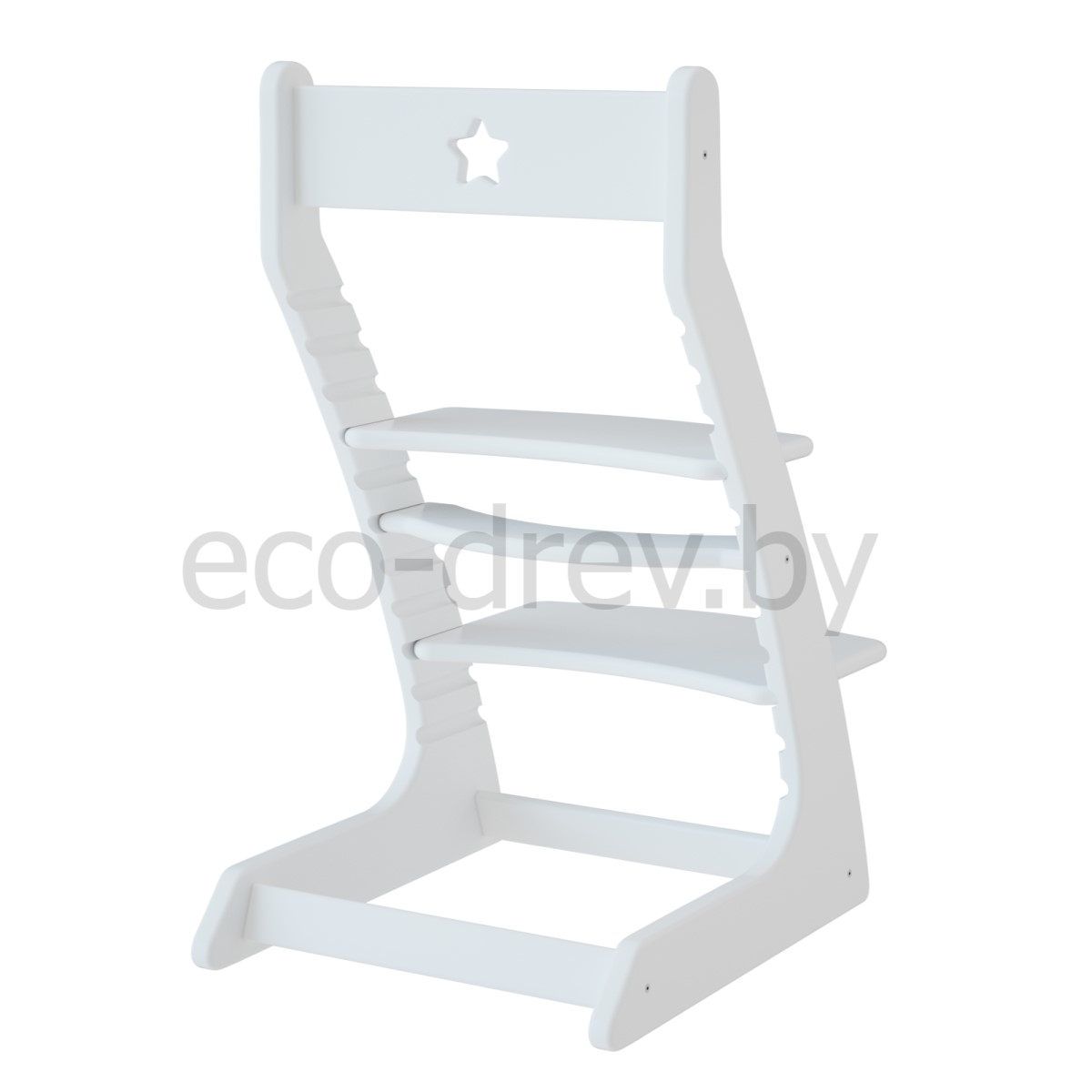 Детский растущий регулируемый стул Ростик/Rostik (белый)