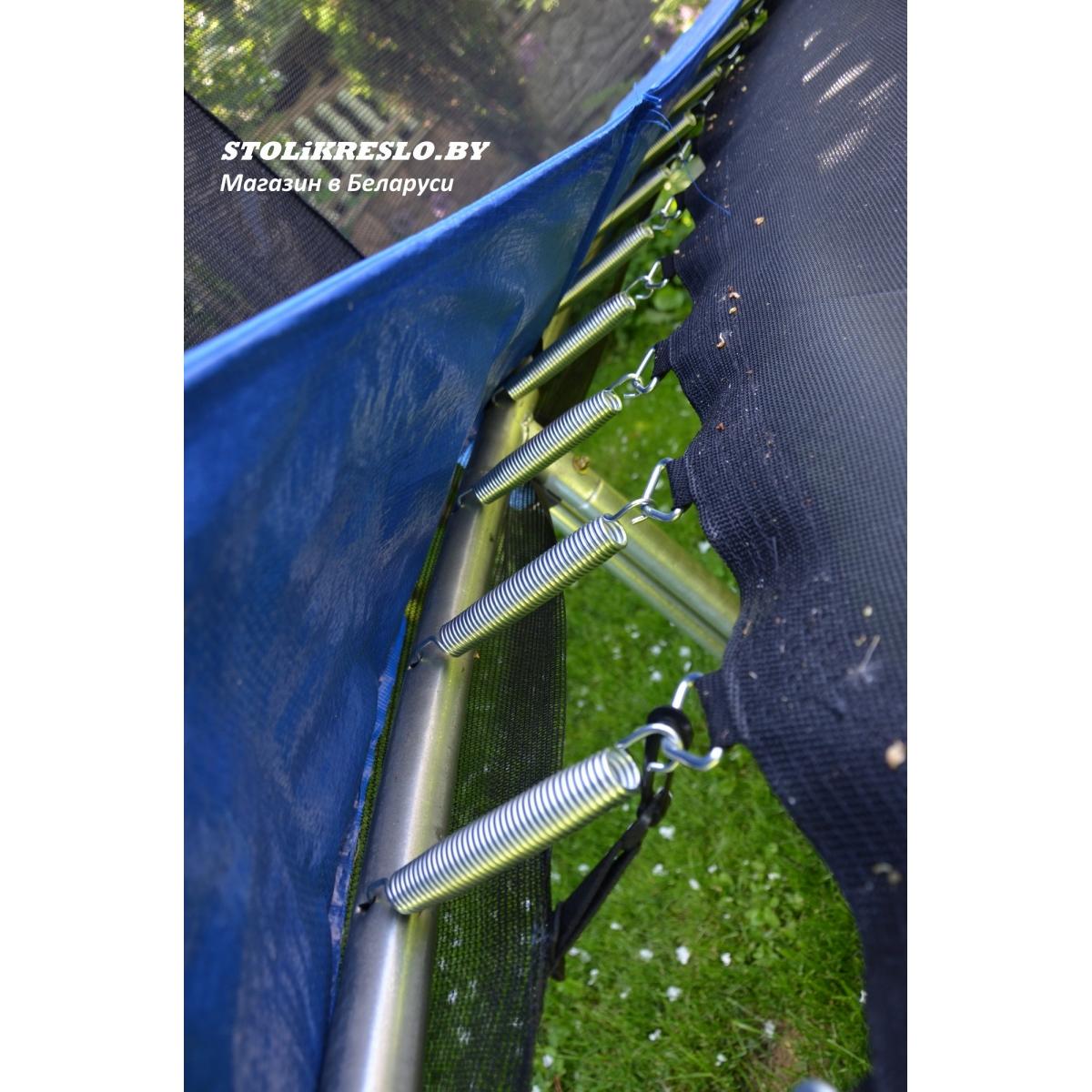 Батут Atlas Sport 404 см - 13ft PRO (усиленные опоры) с внешней сеткой и лестницей