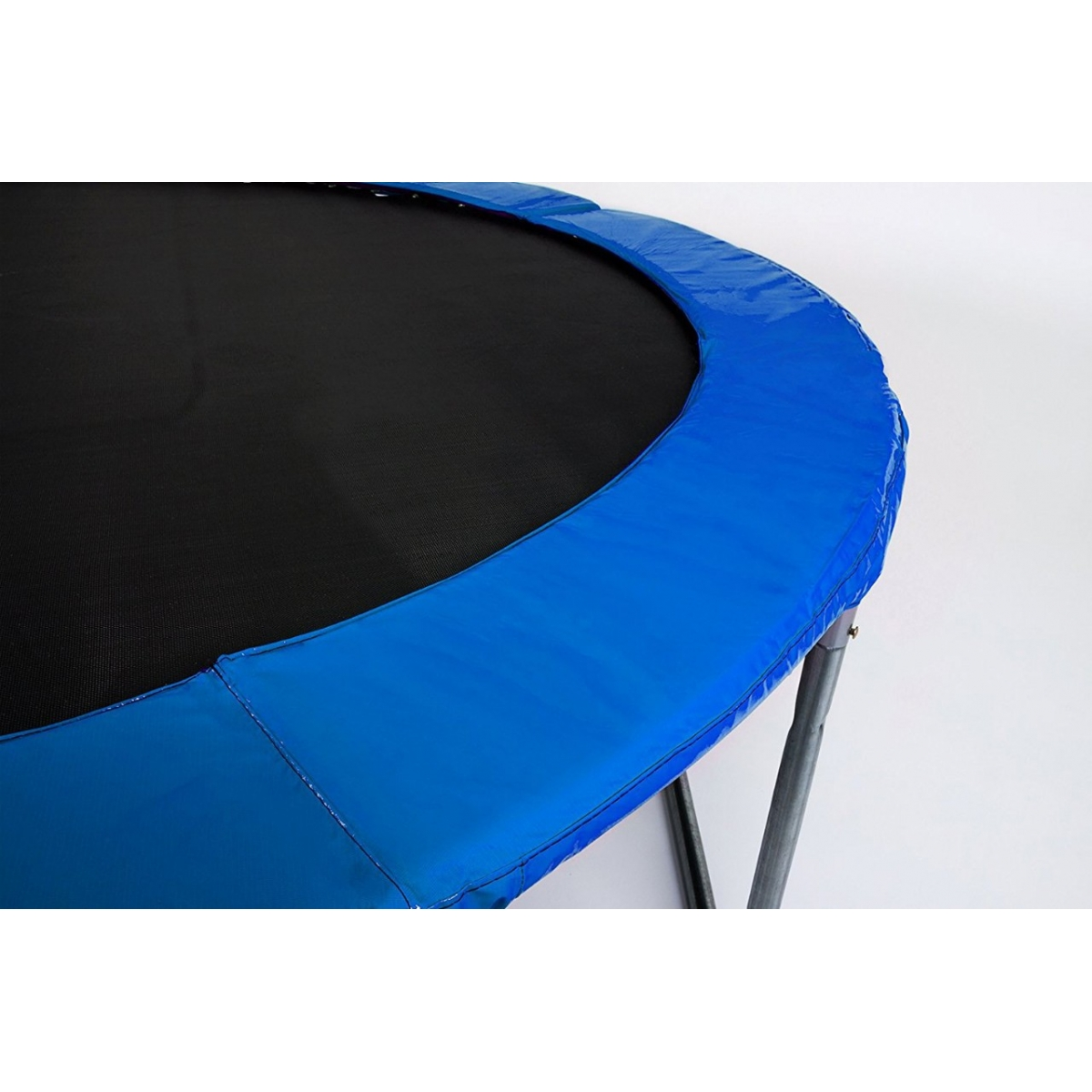 Батут Atlas Sport 312см - 10ft PRO (3 ноги) + усиленные опоры, с внешней сеткой и лестницей