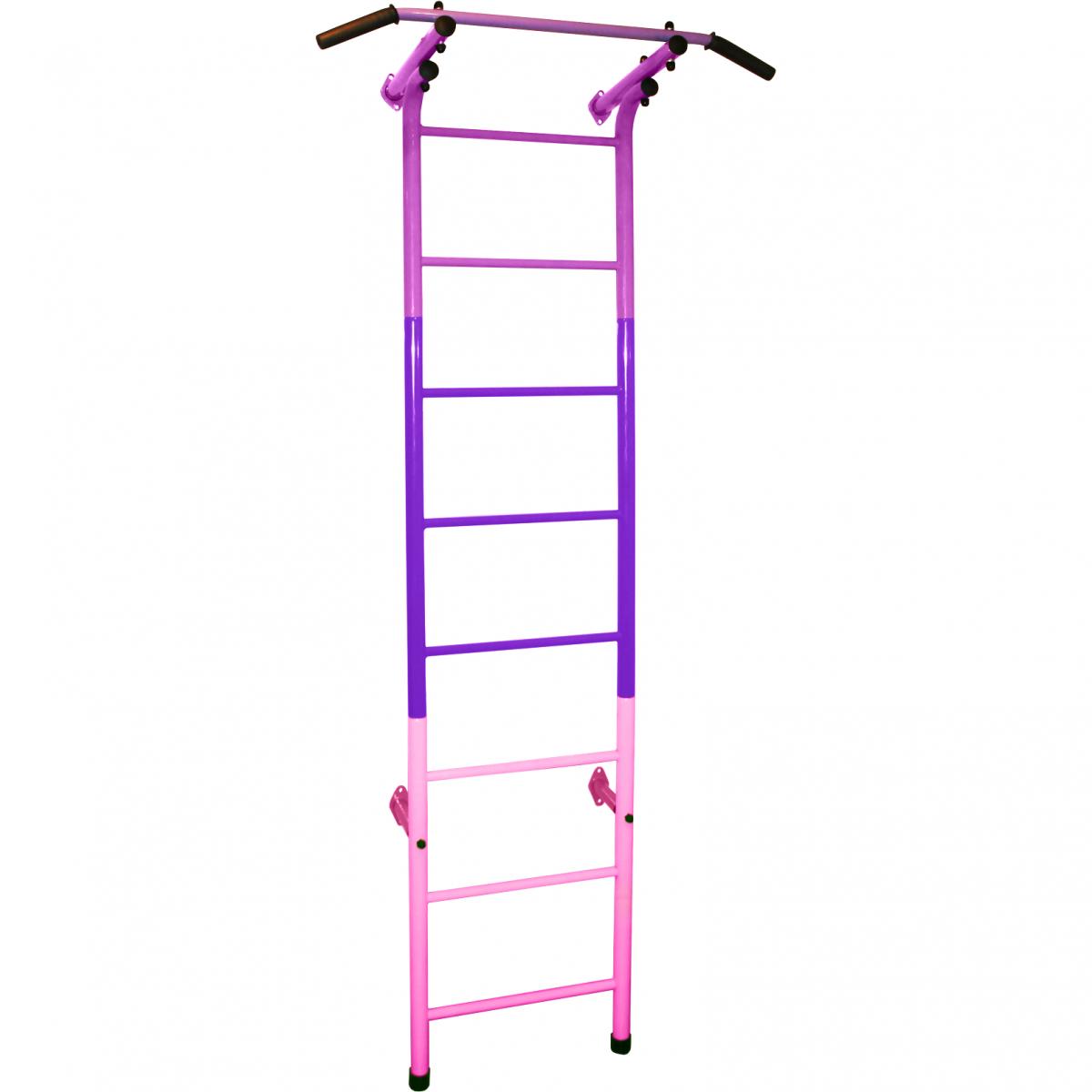 Шведская стенка (детский спортивный комплекс) 9 Радуга фиолетово-розового цвета
