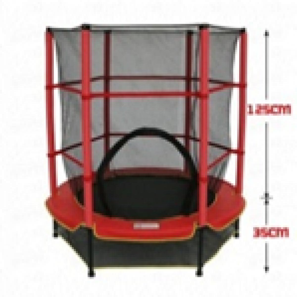 Батут Bebon sport c сеткой безопасности, 55 дюймов (140см.)