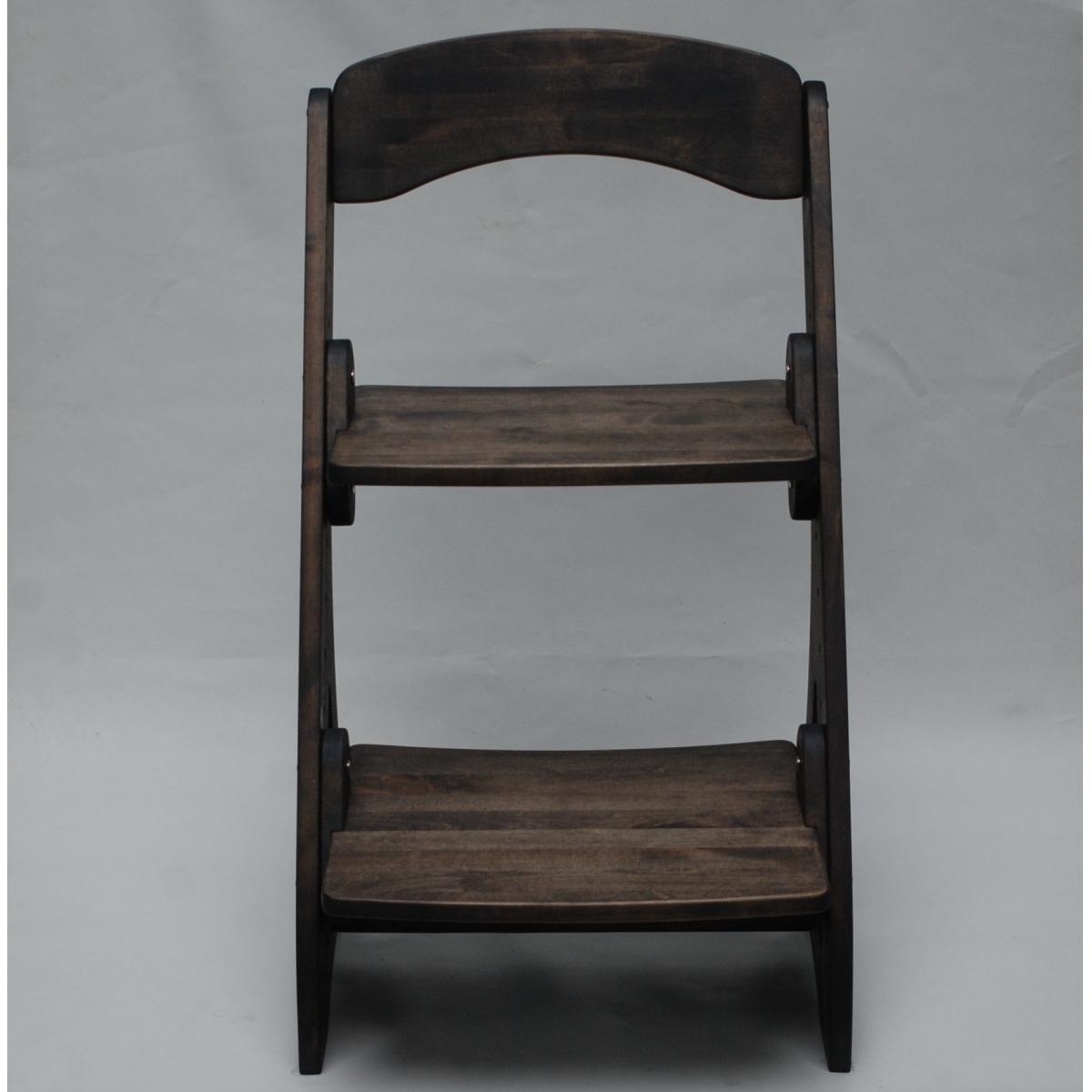 Растущий стул АйКью из массива березы (цвет шоколад)