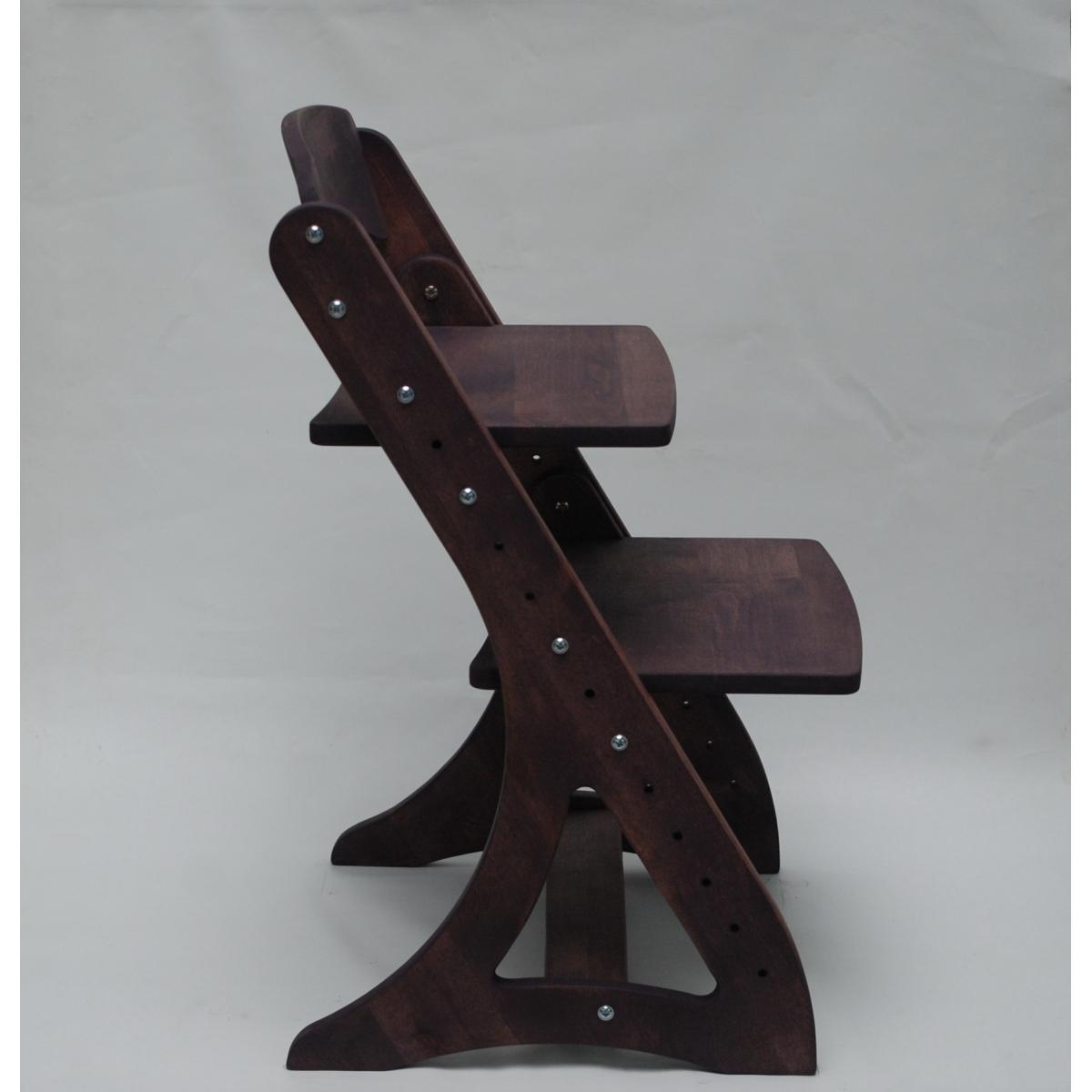 Растущий стул АйКью из массива березы (пурпурный верес)