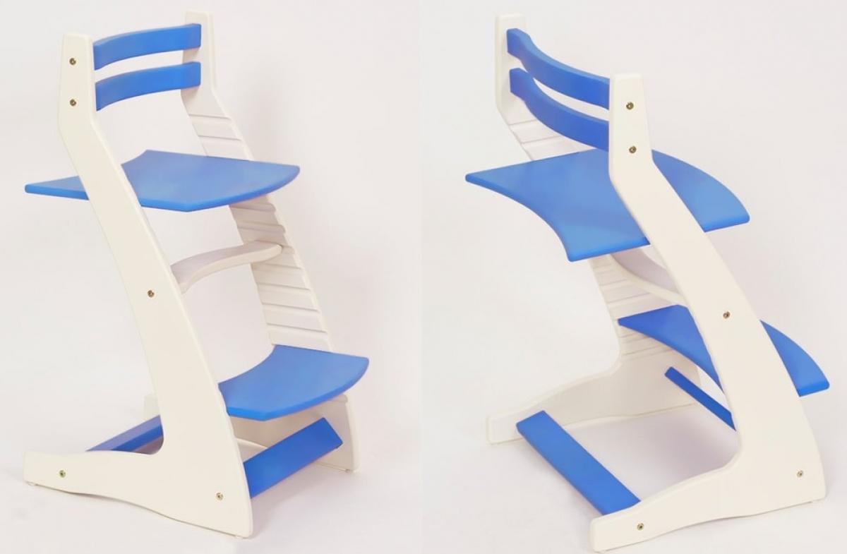 Детский регулируемый стул «ВАСИЛЁК» ВН-01 (бело-синий)