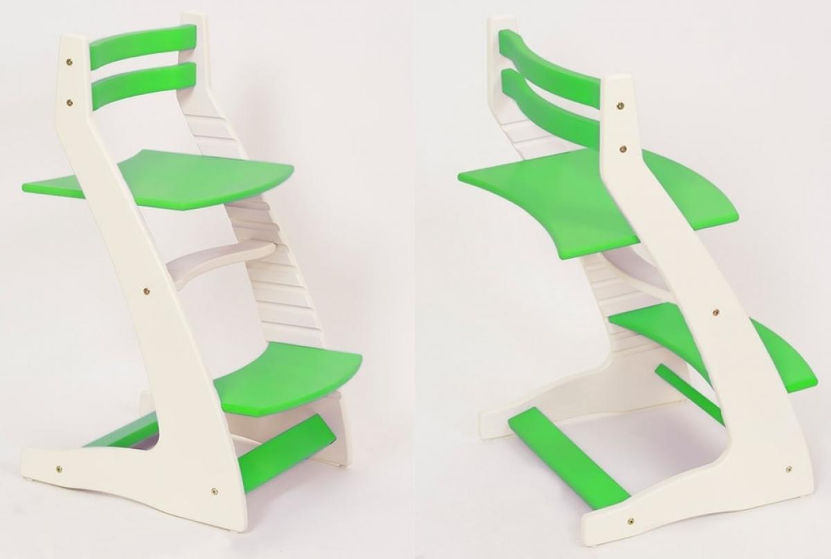 Детский регулируемый стул «ВАСИЛЁК» ВН-01 (бело-зеленый)