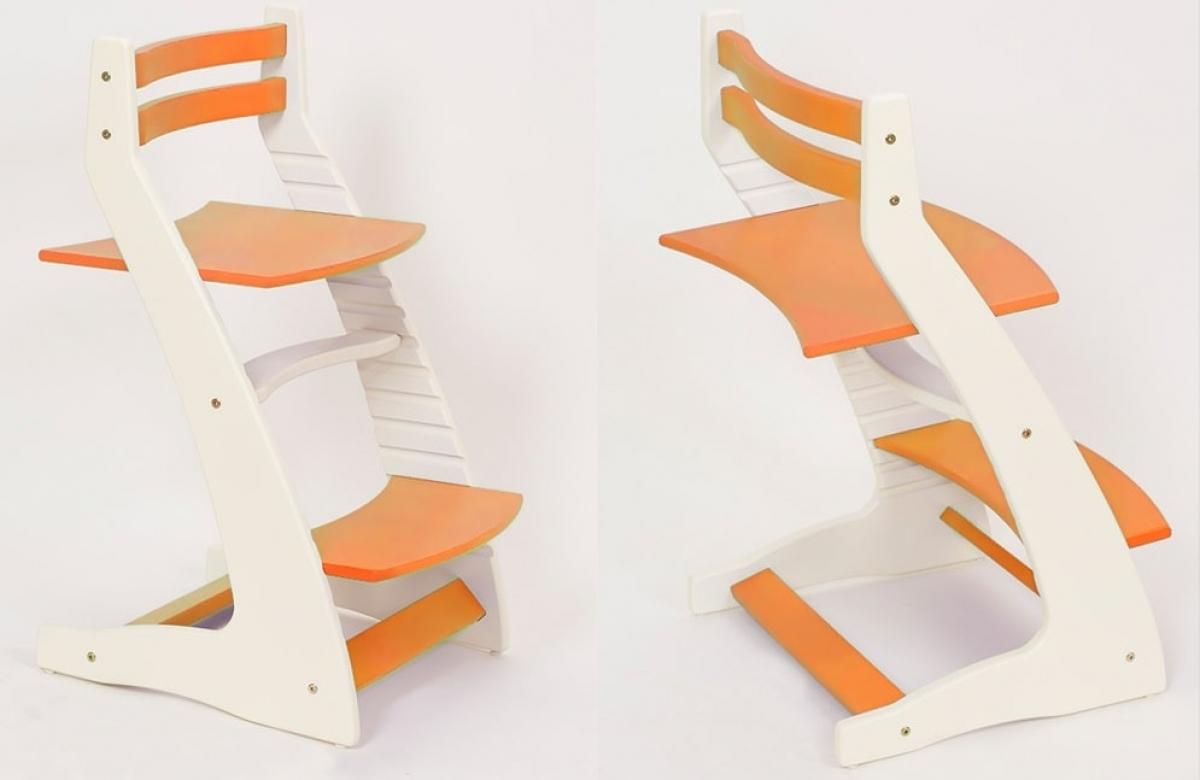 Детский регулируемый стул «ВАСИЛЁК» ВН-01 (бело-оранжевый)