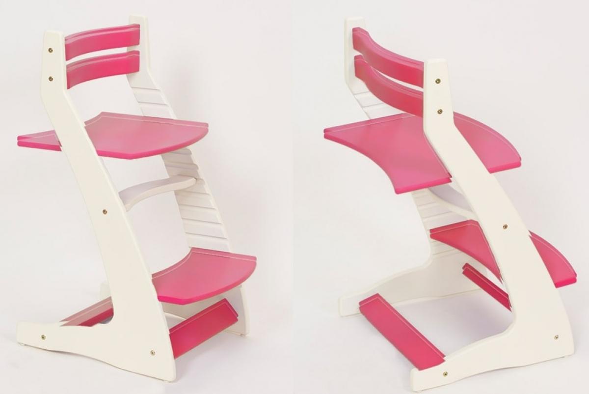 Детский регулируемый стул «ВАСИЛЁК» ВН-01 (бело-малиновый)