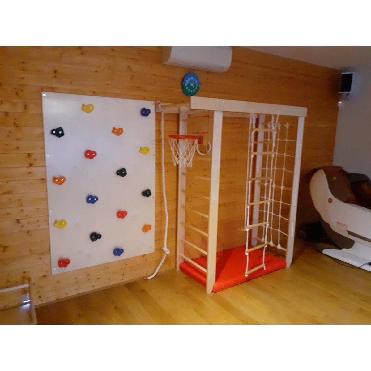 Крепыш П-образный с турником (лак, полная комплектация) шведская и гладиаторская стенки