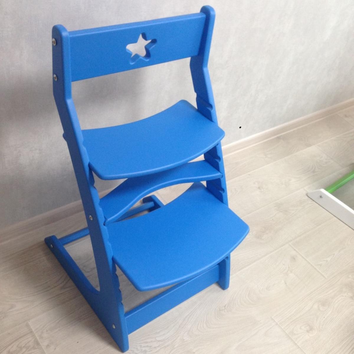 Детский растущий регулируемый стул Ростик/Rostik (синий)