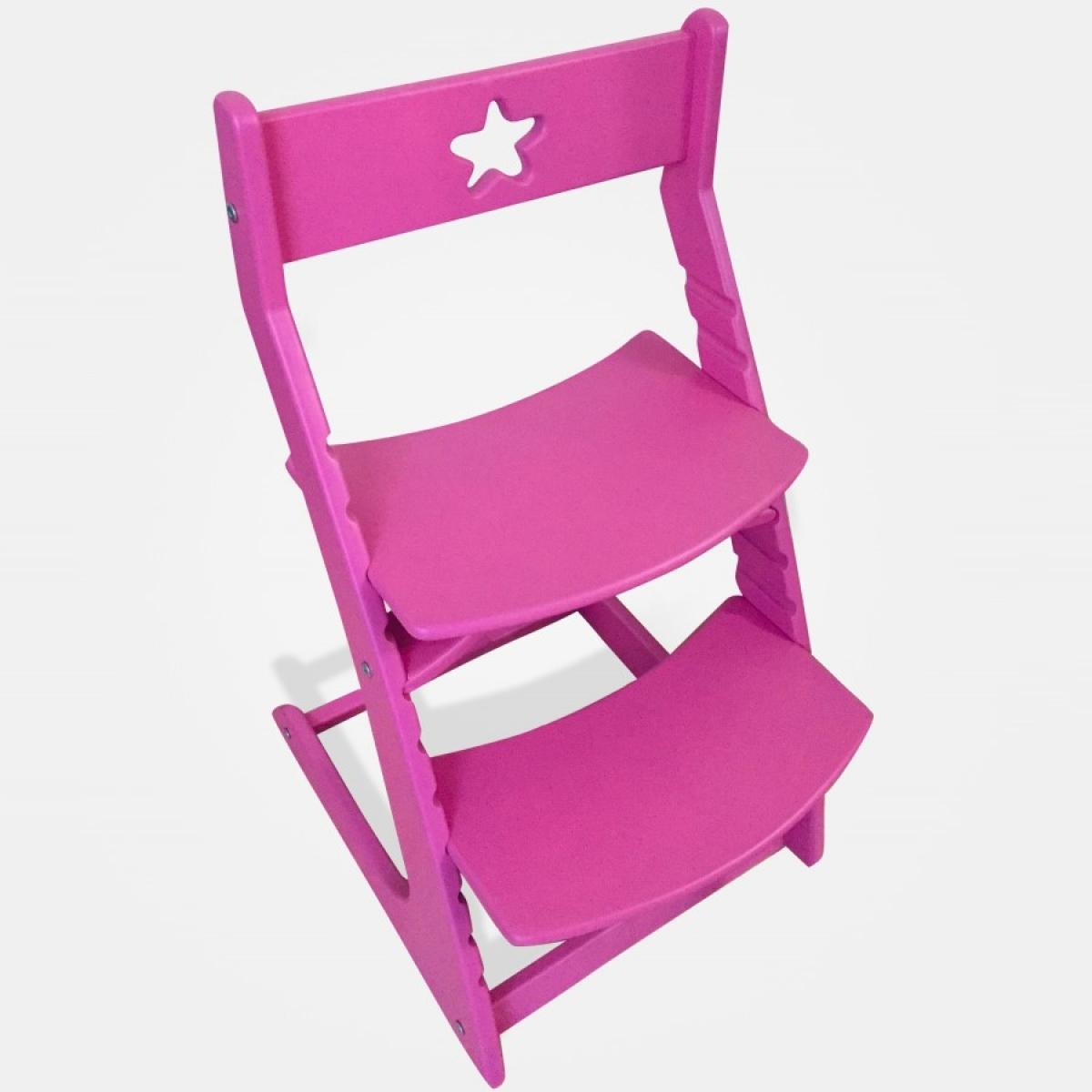 Детский растущий регулируемый стул Ростик/Rostik (розовый)
