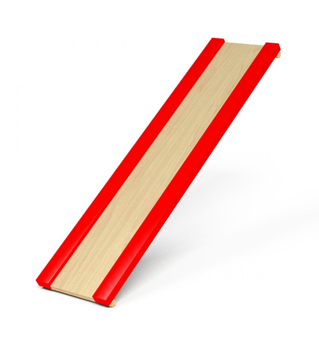 Горка для шведской стенки (красные бортики)