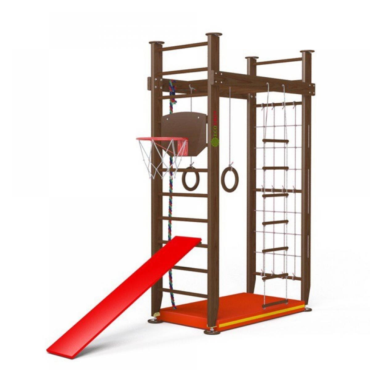 Детский спортивный комплекс Крепыш П-образный без турника враспор (лак) для детей от 3 лет