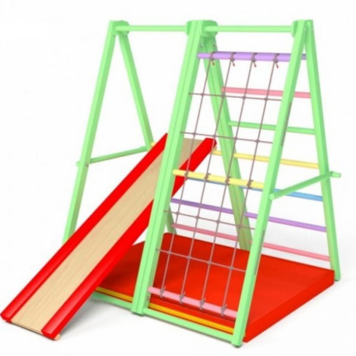 Спортивный комплекс Первые шаги складной (вариант 1) Весенняя радуга