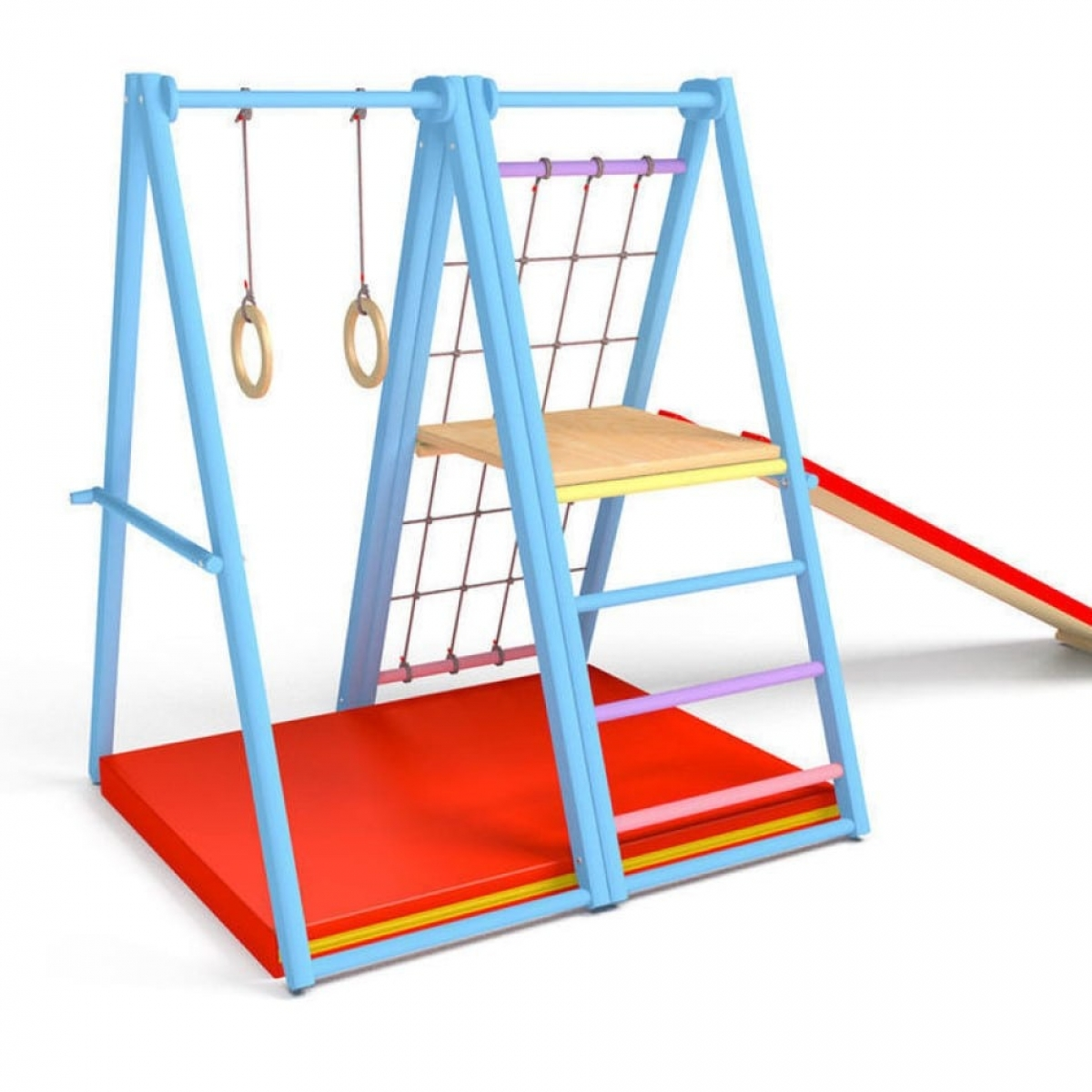 Спортивный комплекс Первые шаги складной (вариант 2) Голубой