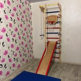 Шведская стенка Крепыш 01 Ультра (цветные ступеньки, базовая комплектация)