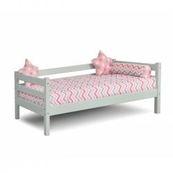 Детская (подростковая) кровать Соня с задней защитой без бортика и ящиков (белая)