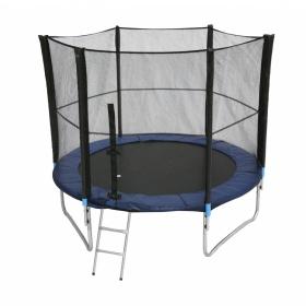 Батут Bebon sport c сеткой безопасности и лестницей, 8 футов (244 см)