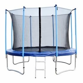Батут Bebon sport с внутренней сеткой безопас и лестницей (станд. стойки) 12 футов 366 см