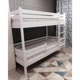 Детская (подростковая) двухъярусная кровать Rostik 2в1 (белая) без нижнего бортика и ящиков