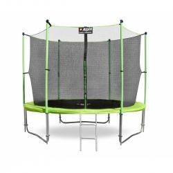 Батут Alpin inside зеленый 10фт. с защитной сеткой и лестницей AT-312