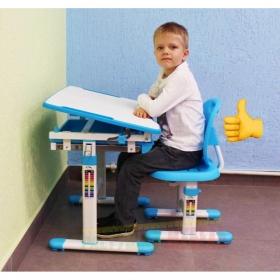 Детский комплект мебели (парта+стул) New Elfin B201S (голубой)