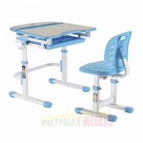 Детский комплект мебели (парта+стул) New Smart C304S (голубой)