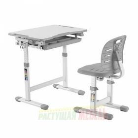 Детский комплект мебели (парта+стул) New Elfin B201S (серый)