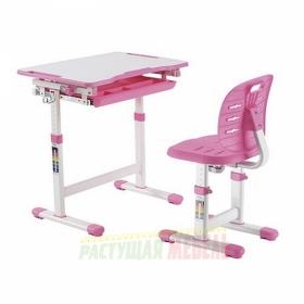 Детский комплект мебели (парта+стул) New Elfin B201S (розовый)