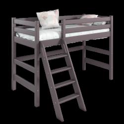 Детская (подростковая) полувысокая кровать (кровать-чердак) Соня с наклонной лестницей (лаванда)