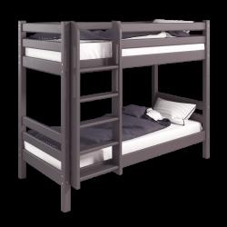 Двухъярусная детская (подростковая) кровать Соня с прямой лестницей (лаванда)