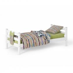 Детская (подростковая) кровать Соня без бортиков и ящиков (белая)