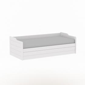 Детская (подростковая) кровать с дополнительным спальным местом Илло (белая)