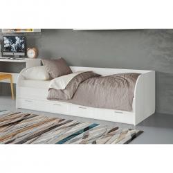 Кровать подростковая Лотос КР-804, цвет бодега белая