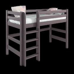 Детская (подростковая) полувысокая кровать (кровать-чердак) Соня с прямой лестницей (лаванда)