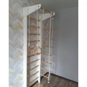 Шведская стенка Крепыш 01 Ультра (бело-лаковая, базовая комплектация)