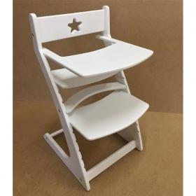 Детский растущий регулируемый стул Ростик/Rostik со столиком (белый)