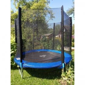 Батут Atlas Sport 140 см - 4.5ft с внешней сеткой (на пружинах) синий