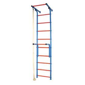Шведская стенка (детский спортивный комплекс) 5 сине-красный