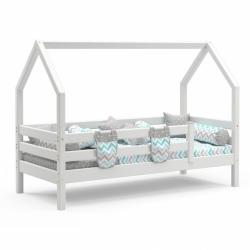 Детская кровать с надстройкой (кровать-домик) Соня (белая)