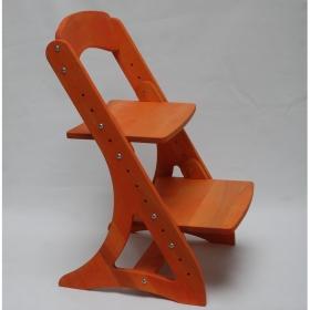Растущий стул АйКью из массива березы (цвет оранж)