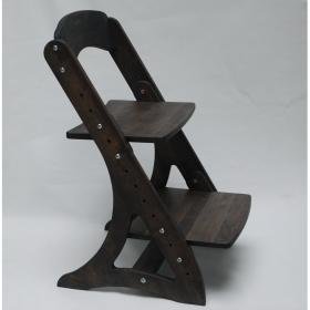 Растущий стул АйКью из массива березы (цвет шаркол)