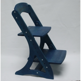 Растущий стул АйКью из массива березы (цвет аквамарин)