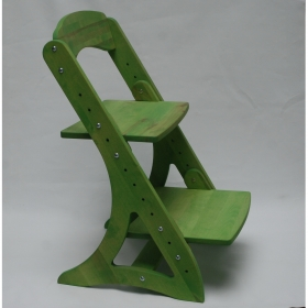 Растущий стул АйКью из массива березы (цвет вегги)