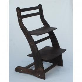 Регулируемый стул НЕКСТ из фанеры березы (цвет шоколад)