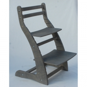 Регулируемый стул НЕКСТ из фанеры березы (цвет дельфин)