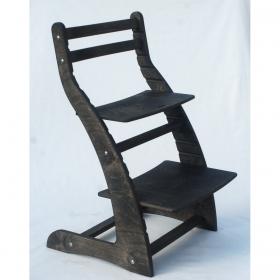 Регулируемый стул НЕКСТ из фанеры березы (цвет шаркол)